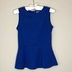 SALE❗️H&M Royal Blue Sleeveless Peplum Blouse